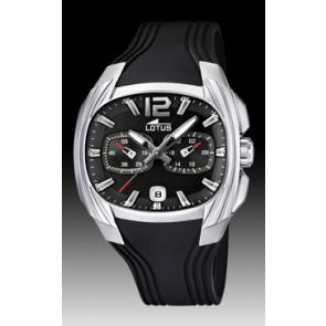 Lotus horlogeband L15756 Rubber Zwart 22mm