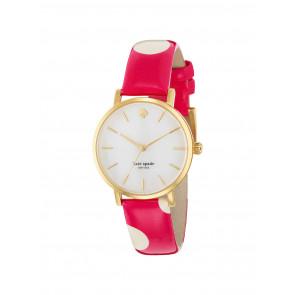 Pasek do zegarka Kate Spade New York 1YRU0224 Skórzany Różowy 16mm