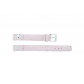 Lacoste horlogeband 2000387 / LC-05-3-14-0009 Leder Roze 12mm + standaard stiksel