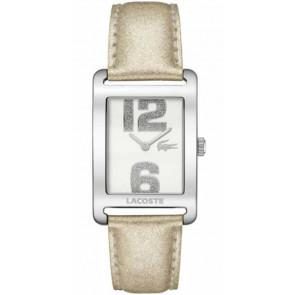Pasek do zegarka Lacoste 2000674 / LC-51-3-14-2261 Skórzany Beżowy 20mm