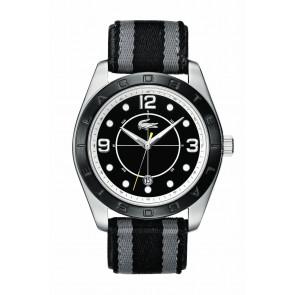 Pasek do zegarka Lacoste 2010575 / LC-53-1-34-2267 Skórzany Czarny 24mm