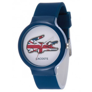 Lacoste horlogeband LC-46-4-47-2502 / 2020072 / 20mm Rubber Blauw 14mm