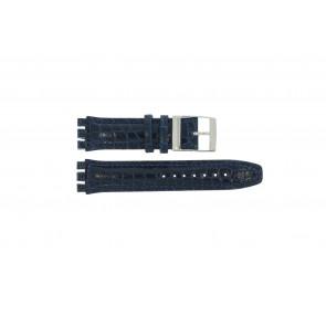Pasek do zegarka Swatch 247.11M Skórzany Niebieski 20mm