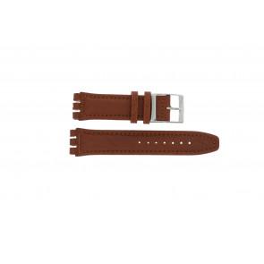 Pasek do zegarka Swatch 247.02PL Skórzany Brązowy 20mm