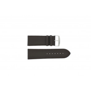 Pasek do zegarka Uniwersalny 306R.01 Skórzany Czarny 30mm