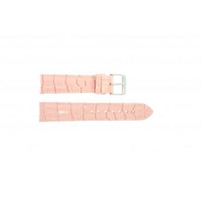 Prawdziwy Skóra Croc Różowy 24mm Pvk-285