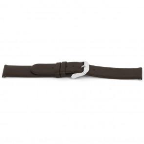 Pasek do zegarka Uniwersalny D300 Gładka skóra Brązowy 14mm