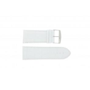 Pasek do zegarka Uniwersalny 305.09 Skórzany Biały 34mm