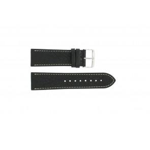 Pasek do zegarka Uniwersalny 307.01 XL Skórzany Czarny 18mm