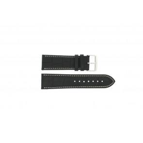 Pasek do zegarka Uniwersalny 308L.01 XL Skórzany Czarny 20mm