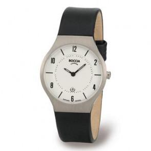 Pasek do zegarka Boccia 3193-01 (BO811 X367S16) Skórzany Czarny 15mm