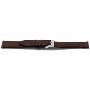 Pasek do zegarka Uniwersalny E333 Lizard Slimline Skórzany Brązowy 16mm