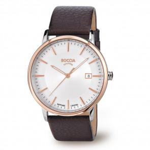 Pasek do zegarka Boccia 3557-04 Skórzany Brązowy 21mm