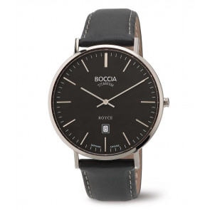 Pasek do zegarka Boccia 3589-02 Skórzany Czarny 20mm