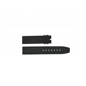 Boccia horlogeband 3780-01 Leder Zwart 20mm + standaard stiksel