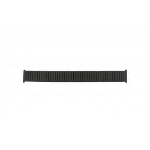Horlogeband 382960 Staal Zwart 22mm
