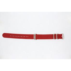 Horlogeband 409.06.20 Textiel Rood 20mm