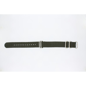 Horlogeband 409.27.22 Textiel Groen 22mm