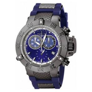 Pasek do zegarka Invicta 5509.01 Stal/Krzem Niebieski