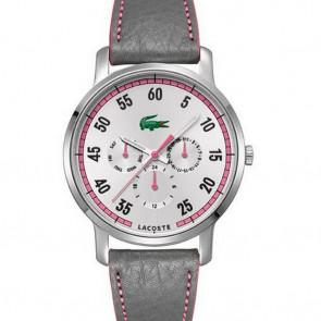 Pasek do zegarka Lacoste 2000595 / LC-41-3-14-2230 Skórzany Purpurowy 20mm