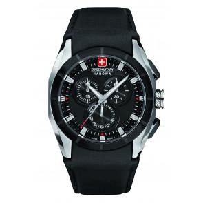 Pasek do zegarka Swiss Military Hanowa 6-4191.33.007 Skórzany Czarny 24mm