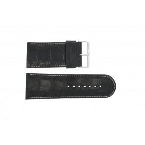 Pasek do zegarka Uniwersalny 61324-36B Skórzany Niebieski 36mm