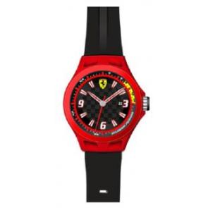 Pasek do zegarka Ferrari SF-01-1-47-0005 / 689300004 Krzem Czarny