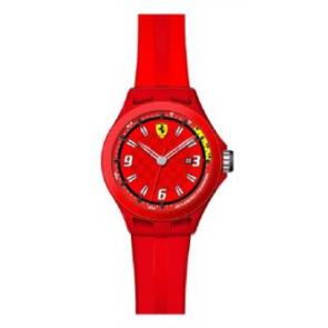 Pasek do zegarka Ferrari SF-01-1-47-0005 / 689300005 Krzem Czerwony