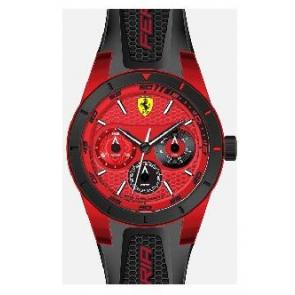 Pasek do zegarka Ferrari SF-28-1-44-0189 / 689300186 Krzem Czarny
