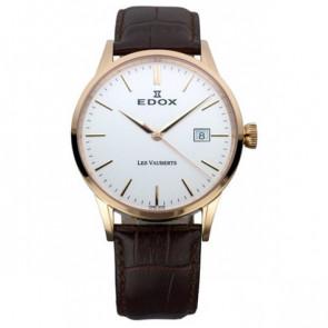Pasek do zegarka Edox 70162 / 493467 Skórzany Ciemny brąz 20mm