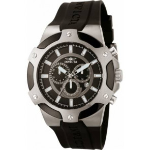 Pasek do zegarka Invicta 7342-SIGNATURE-II Gumowy Czarny 21mm