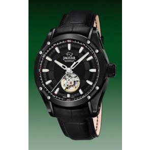 Pasek do zegarka Jaguar J813-A / J814-A Skórzany Czarny