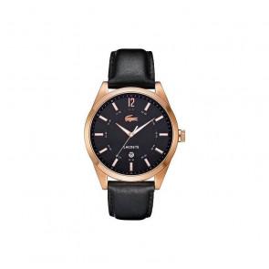Pasek do zegarka Lacoste 2010582 / LC-52-1-34-2266 Skórzany Czarny 22mm