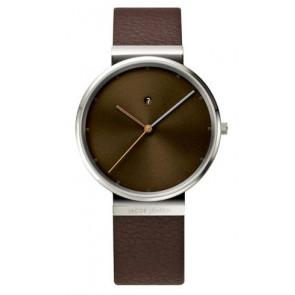 Pasek do zegarka Jacob Jensen 843 Skórzany Brązowy 19mm