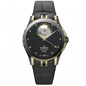 Pasek do zegarka Edox 85012 Skórzany Czarny