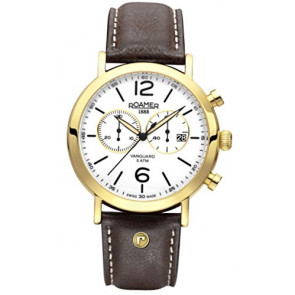 Pasek do zegarka Roamer 935951-48-24-09 Skórzany Brązowy
