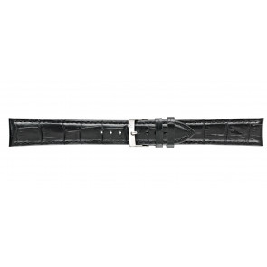 Morellato horlogeband Bolle XL Y2269480019CR22 / PMY019BOLLE22 Croco leder Zwart 22mm + standaard stiksel