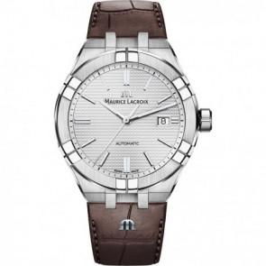 Pasek do zegarka Maurice Lacroix Aikon AI6008-SS001-130-1 Skórzany Brązowy 25mm