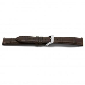 Pasek Do Zegarka Prawdziwy Aligator Skóra Brązowy 22mm Ex-H334