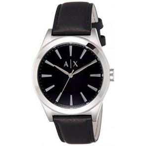 Pasek do zegarka Armani Exchange AX2323 Skórzany Czarny 22mm