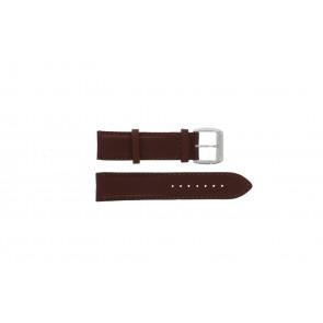Pasek do zegarka Davis BB0231 Skórzany Ciemny brąz 21mm