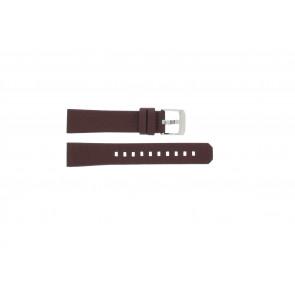 Pasek do zegarka Tag Heuer WAC1219 / BC0848 Skórzany Bordeaux 17mm
