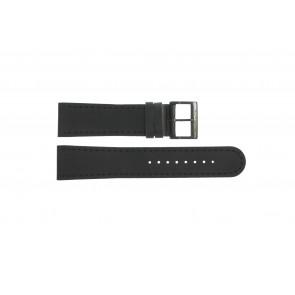 Pasek do zegarka Mondaine BM20054-W Skórzany Czarny 22mm