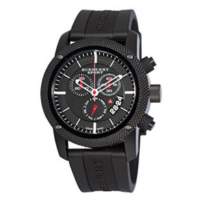 Pasek do zegarka Burberry BU7701 Krzem Czarny