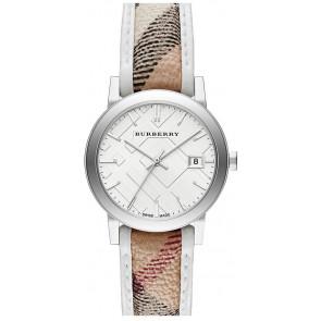 Pasek do zegarka Burberry BU9136 Skórzany Wielobarwność