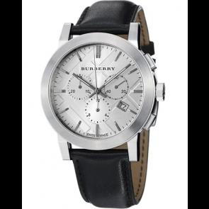 Pasek do zegarka Burberry BU9358 / 7177850 Skórzany Czarny