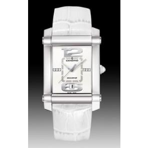 Pasek do zegarka Candino C4283 Skórzany Biały 22mm