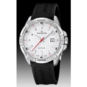 Pasek do zegarka Candino C4497-1 (BC07412) Gumowy Czarny
