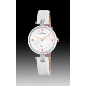Pasek do zegarka Candino C4658-1 Skórzany Biały