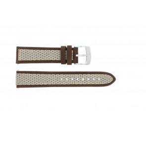 Pasek do zegarka Camel BC50990 / A667.5327LGPA Skórzany/Tekstylia Brązowy 22mm